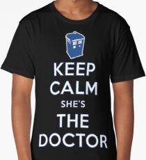 Keep Calm She's The Doctor Long T-Shirt