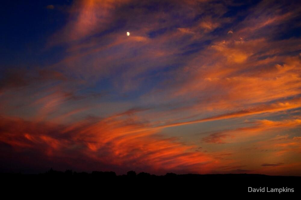 Sunset-Moonrise 2 by David Lampkins