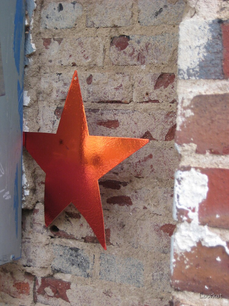 brick and star in downtown Athens by Laurkat