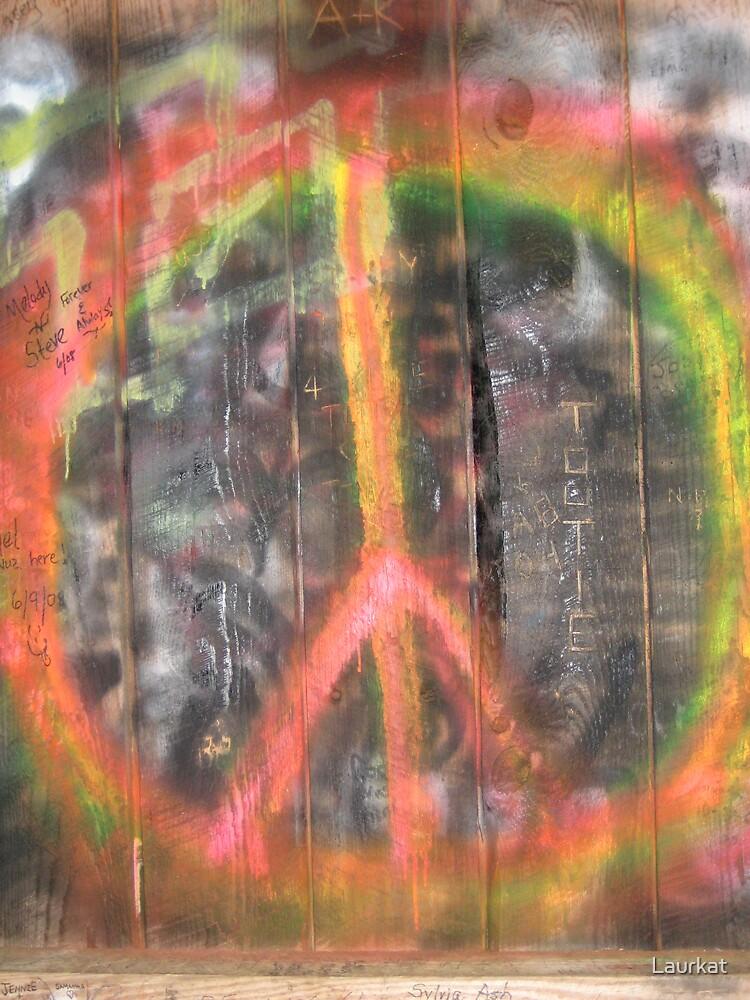 bridge graffiti by Laurkat