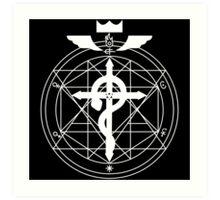 Fullmetal Transmutation - White Art Print