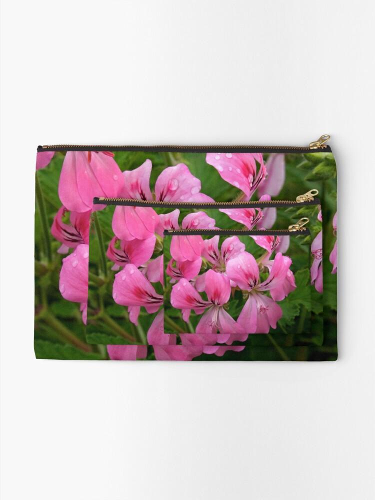 Alternate view of Pink Geranium (Pelargonium)  Zipper Pouch