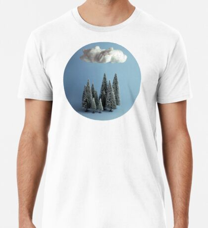 Eine Wolke über dem Wald Premium T-Shirt