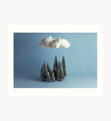 Eine Wolke über dem Wald Kunstdruck