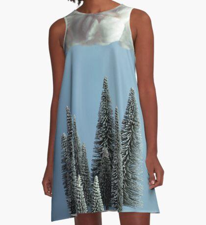 Eine Wolke über dem Wald A-Linien Kleid