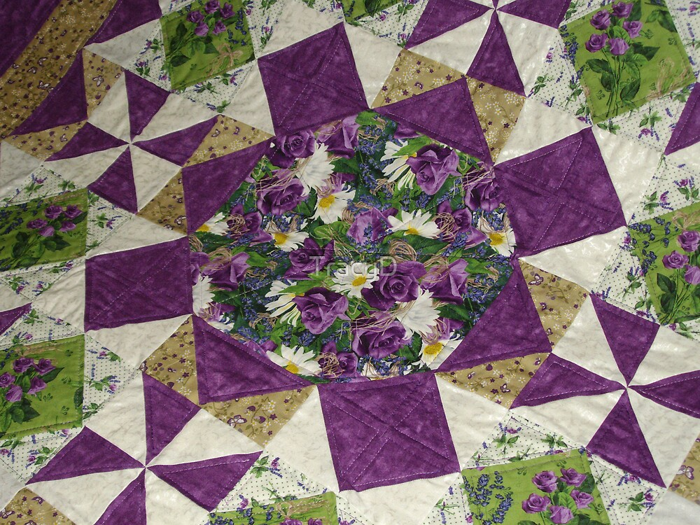 Quilt of Purple for Aunty! by TracyD