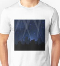 Night City. Starry Night Blue Sky. Sity Skyscrepers T-Shirt