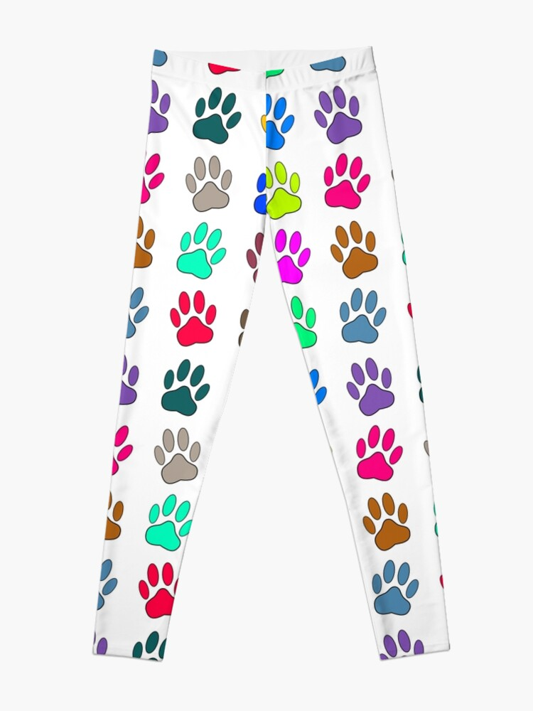 018f4f3b586cdf Multicolored Dog Paw Print Pattern