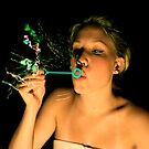 blowing bubbles by Danielle  Kay
