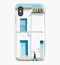 White and blue town iPhone Case/Skin