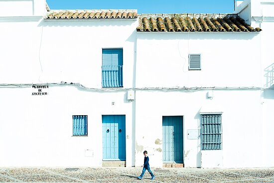 White and blue town by josemanuelerre