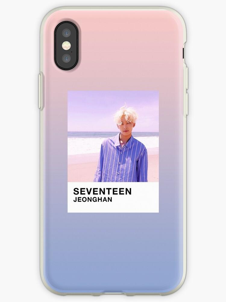 the latest ba726 a612e 'SEVENTEEN Jeonghan Rose Quartz & Serenity Pantone' iPhone Case by tuesdais
