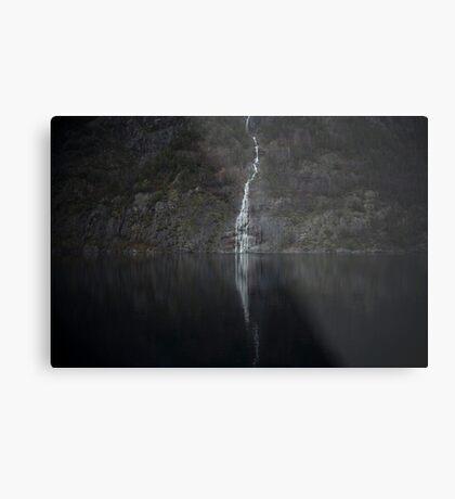 Wasserfall (Das Unbekannte) Metallbild