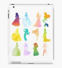 Princesses Watercolor Silhouette iPad Case/Skin