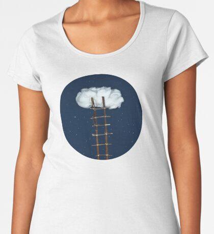 Treppe zu den Wolken Frauen Premium T-Shirts