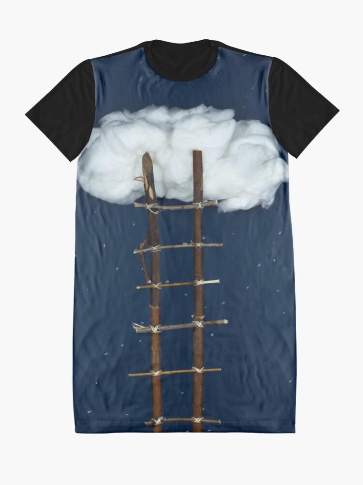 Alternative Ansicht von Treppe zu den Wolken T-Shirt Kleid