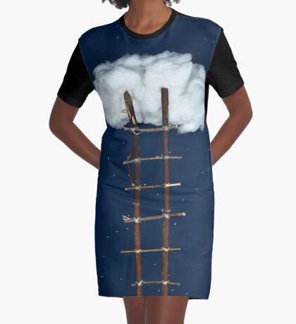 Treppe zu den Wolken T-Shirt Kleid