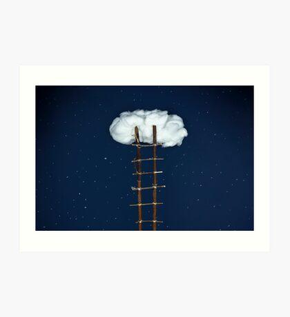 Treppe zu den Wolken Kunstdruck