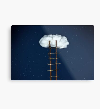 Treppe zu den Wolken Metallbild