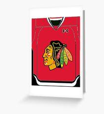 Hawks Jersey Greeting Card