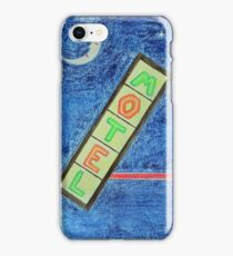 Neon Motel Sign and Moon iPhone Case/Skin