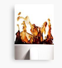 A Splash of Coffee Canvas Print