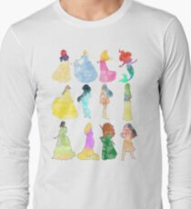 Princesses watercolor Long Sleeve T-Shirt