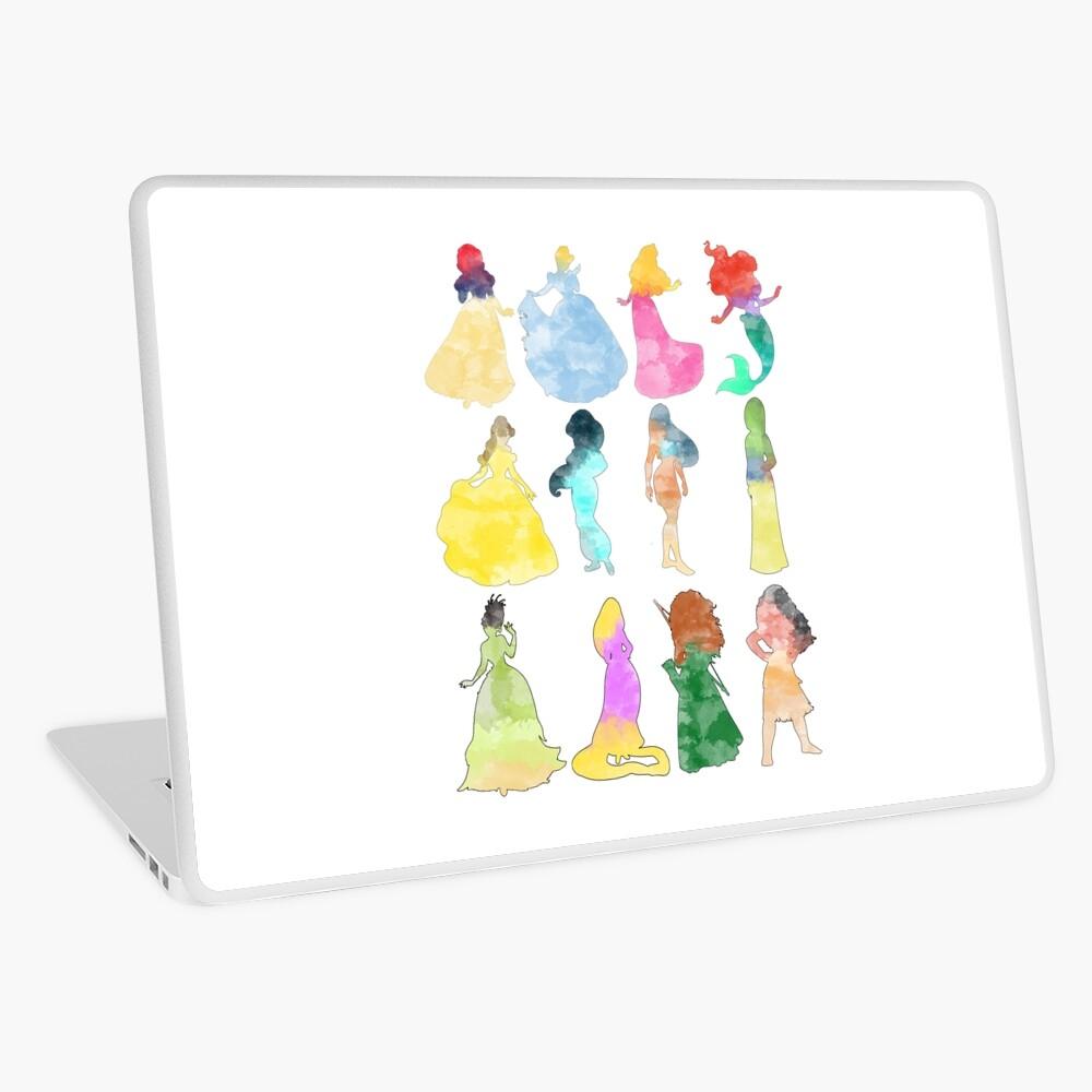 Prinzessinnen Aquarell Laptop Folie