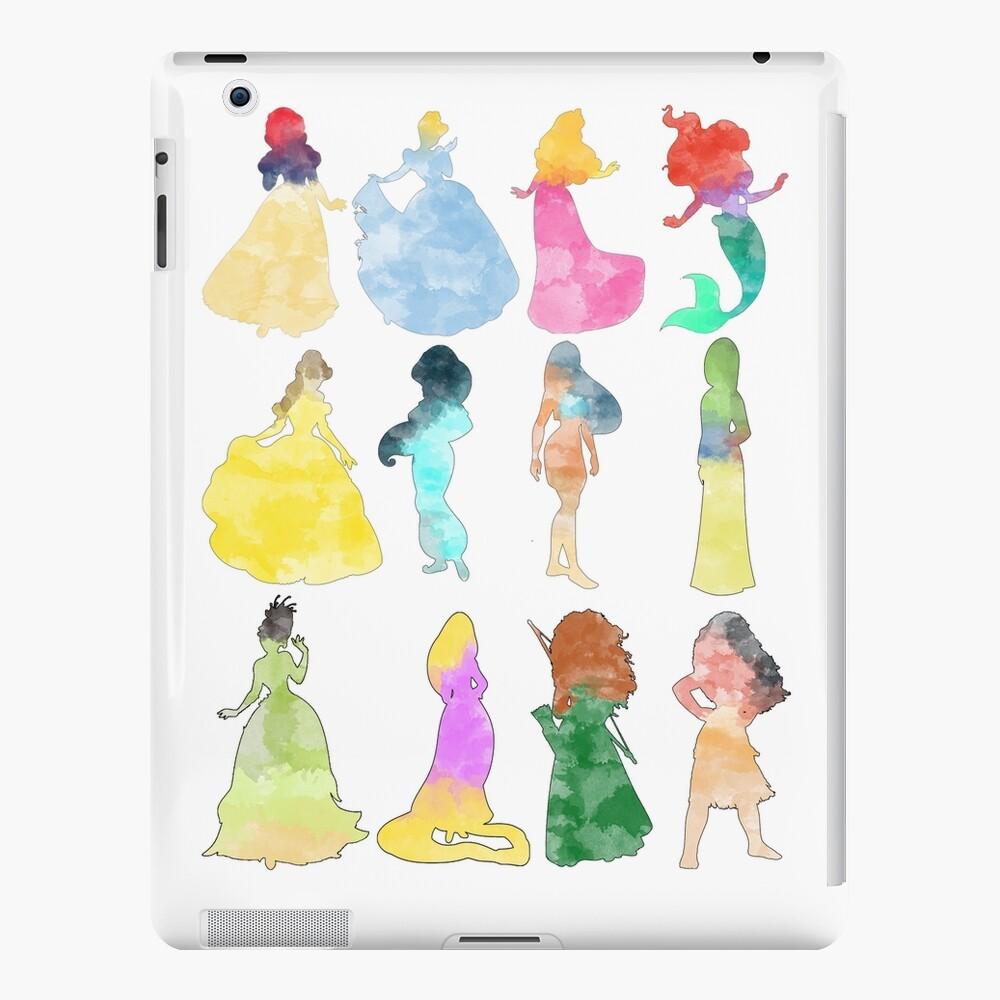 Prinzessinnen Aquarell iPad-Hülle & Skin