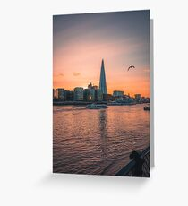 The Shard at Sunset Greeting Card