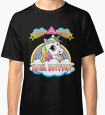 Unicorn hail satan death metal rainbown t-shirt Classic T-Shirt