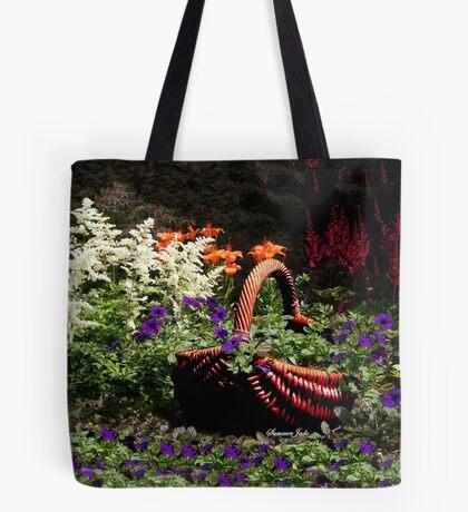 My Garden Petunia Basket Tote Bag