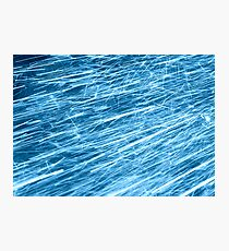 blue flow Photographic Print