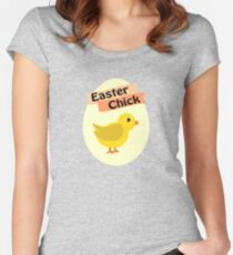 Cute Yellow Easter Chick Women's Fitted Scoop T-Shirt