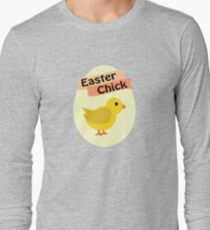 Cute Yellow Easter Chick Long Sleeve T-Shirt