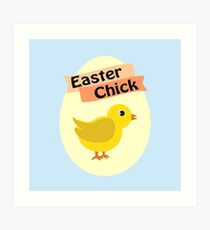 Cute Yellow Easter Chick Art Print