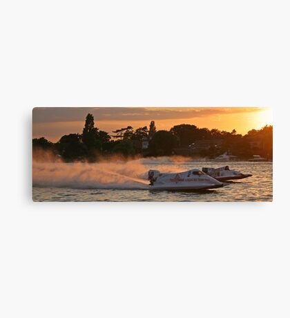 Power Boats on Oulton Broad Canvas Print