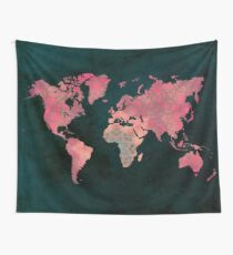 world map art 11 Wall Tapestry
