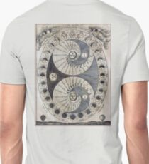 Ancient astronomy diagram charting Phases of the Moon  T-Shirt
