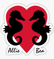 Allie + Bea+ Seahorse Sticker