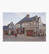 Shops in Villandry, France Photographic Print