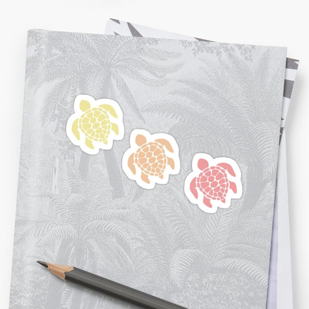 Schildkröte - warme Pastellfarben Sticker