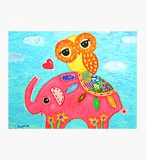 Love Is Like An Elephant Photographic Print