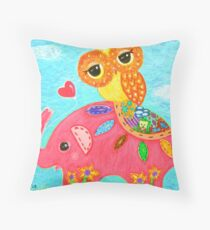 Love Is Like An Elephant Throw Pillow