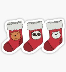 We Bare Bears - Christmas Stockings Sticker