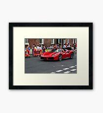 Red ferrari 488 convertible Framed Print