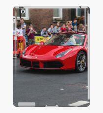 Red ferrari 488 convertible iPad Case/Skin