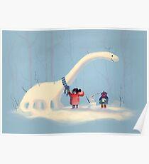 Frozen Dinosaur Poster