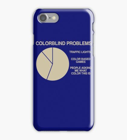 Color blind problems iPhone Case/Skin