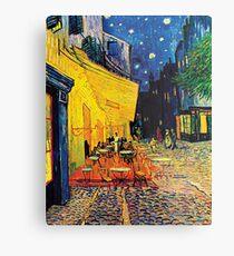 Vincent Van Gogh - Cafe Terrace at Night Metal Print